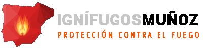 Logo Ignífugos Muñoz: protección contra el fuego
